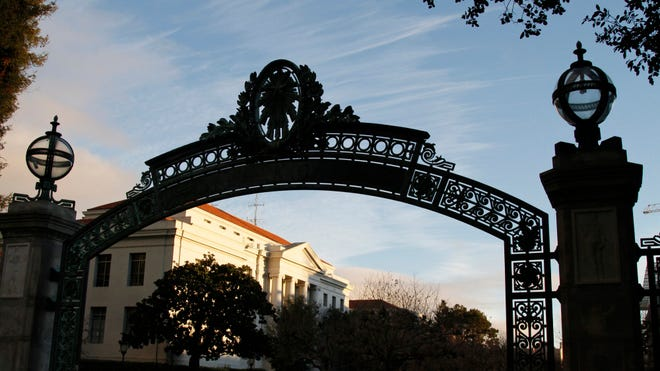 Sather Gate on the University of California campus in Berkeley, Calif.