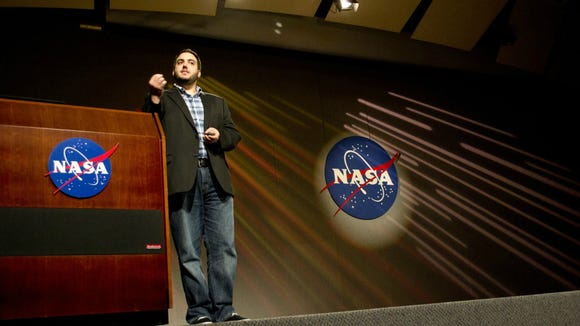 Rotolo speaking at the final frontier -- NASA. (Photo: Rotolo)