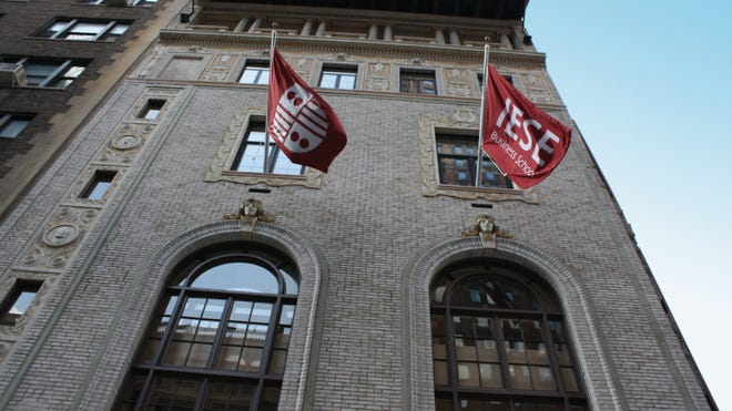 TheIESE Business School at the University of Navarra, located in Barcelona, opened a six-story building in New York in 2010. Photo courtesy of IESE Business School.