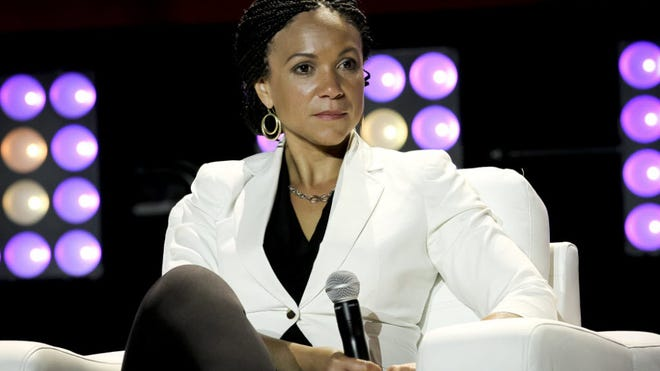 Melissa Harris-Perry attends the 2014 Essence Music Festival Concert - Day 2 on July 4, 2014, in New Orleans.