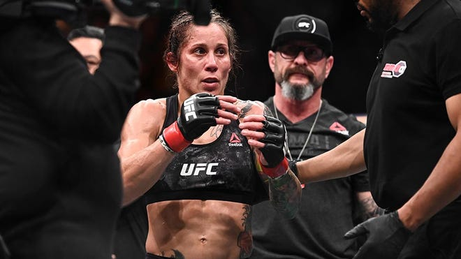 Liz Carmouche defeated Lucie Pudilova during UFC Fight Night in February in Prague.