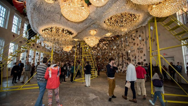 """Nick Cave: Until"" is the primary exhibition at the Momentary, the new contemporary art museum from Crystal Bridges in Bentonville, Arkansas, and it is on display through January."
