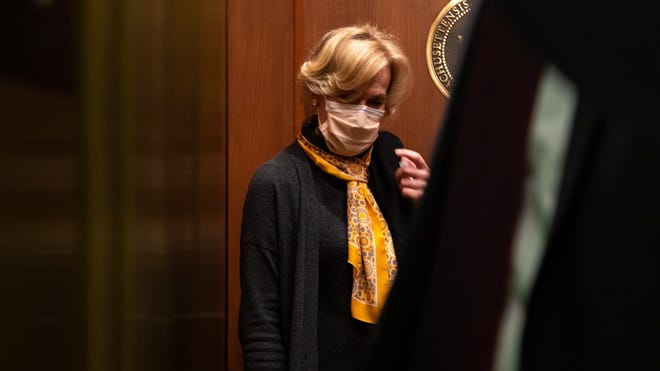 White House COVID-19 czar Dr. Deborah Birx exited the State House Friday afternoon via a west wing elevator after spending more than an hour in Gov. Charlie Baker's office.