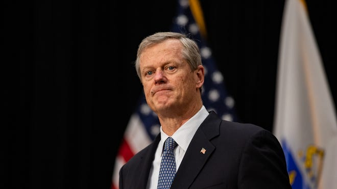For the second consecutive presidential election, Gov. Charlie Baker didn't vote for any of the candidates.