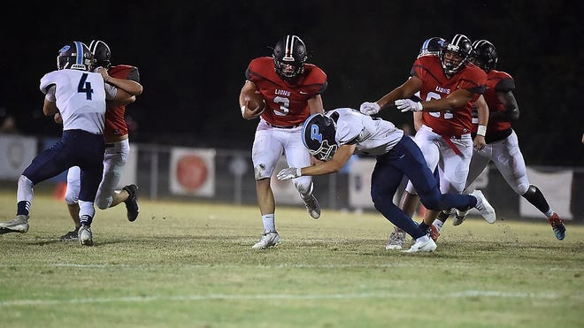 Augusta Christian takes on Pinewood during football action at Augusta Christian in Martinez, Ga., Friday evening October 9, 2020