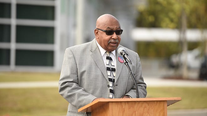 Commissioner Dennis Williams, who announced he's running for Augusta mayor next year, speaks at the opening of the newly constructed Augusta Transit Center Oct. 22, 2020.