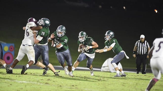 Greenbrier takes on Lakeside during football action at Greenbrier High School in Evans, Ga., Friday evening Sept. 18, 2020