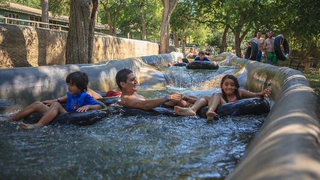 Cool Comal River waters send riders through miles of chutes at Schlitterbahn in New Braunfels.