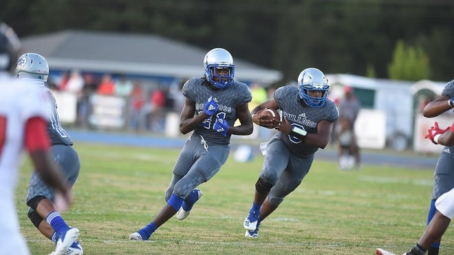 Silver Bluff vs  Barnwell football action at Silver Bluff High School in Aiken, SC., Friday evening August 31, 2018.