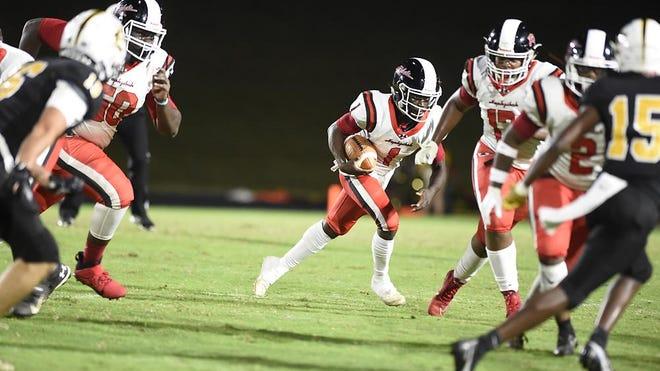 Evans takes on Hephzibah during football action at Evans High School in Evans, Ga., Friday evening September 11, 2020.
