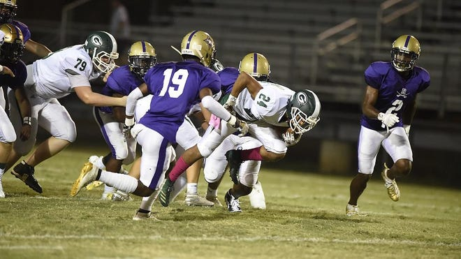 ARC takes on Greenbrier during football action at ARC in Augusta, Ga., Friday evening October 4, 2019.  [MICHAEL HOLAHAN/THE AUGUSTA CHRONICLE] \r\r