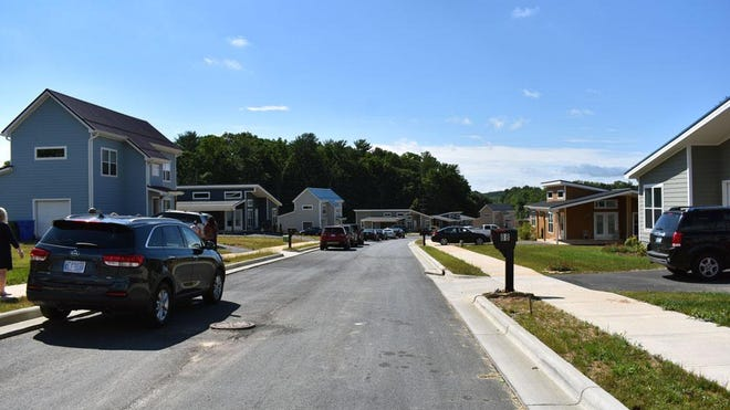 Some of the 17 homes in Oklawaha Village near the completion of construction back in 2018. The homeowners have recently expressed concerns about a nearby apartment complex being constructed.