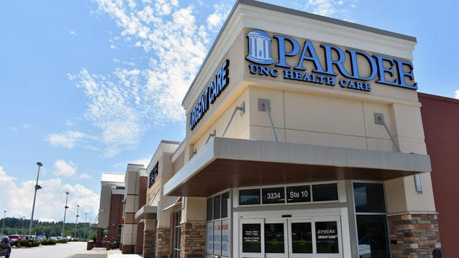 The urgent care location Pardee UNC Health Care opened in Mills River in 2018. The healthcare provider is opening three new clinics in Transylvania County this month.