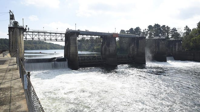 Congressional representatives, local officials and the Army Corps of Engineers toured the New Savannah Bluff Lock and Dam in Augusta, Ga., Friday morning October 16, 2020