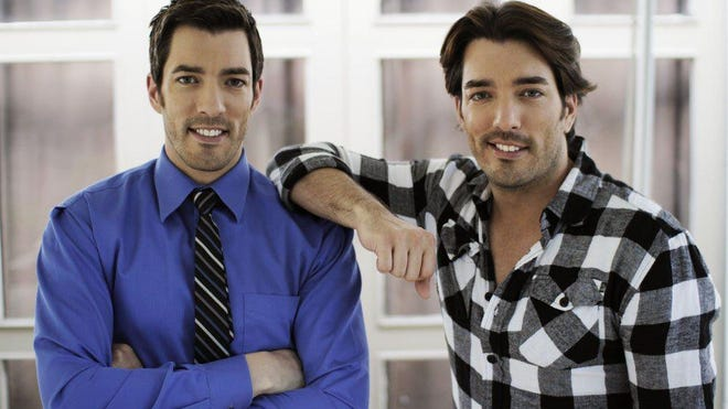 """Twin brothers Drew and Jonathan Scott are the hosts of """"Celebrity IOU,"""" which returns to HGTV at 9 p.m. Monday."""