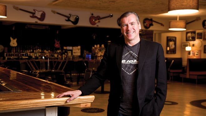 CD92.9 owner Randy Malloy photographed at the Big Room Bar