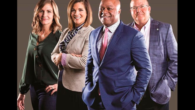 The 2018 CEOs of the Year, from left to right: Jessica Kittrell, Rebecca Asmo, Frederic Bertley and Scott McComb