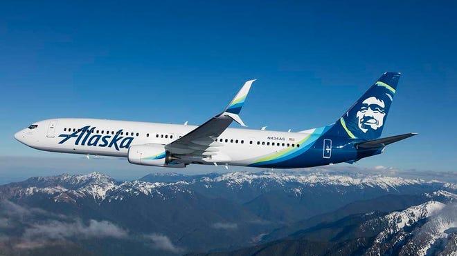 An Alaska Airlines jetliner struck a brown bear while landing Saturday in Yakutat, Alaska.