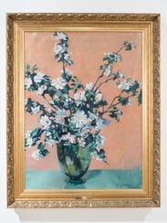 """Artist Jane Peterson's """"Dogwood"""" oil on canvas painting"""