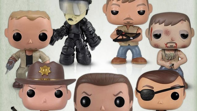 This bundle of 'Walking Dead' vinyl figurines from Funko includes fan faves like Rick, Daryl and the Governor.
