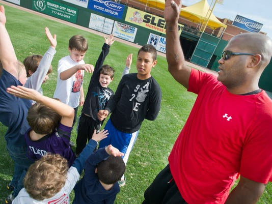 The Byrnes Health Education Center and the York YWCA will host a new healthy living camp for kids this summer.  Ron Johnson, health and fitness consultant for the YWCA York and former NFL player, will lead the fitness component. (Daily Record/Sunday News -- Paul Kuehnel)