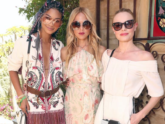 Chanel Iman, Rachel Zoe and Kate Bosworth attend The