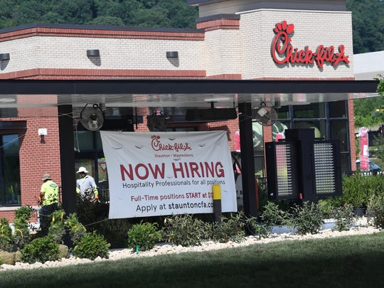 Chick-fil-A at Frontier Center on Richmond Avenue in Staunton.