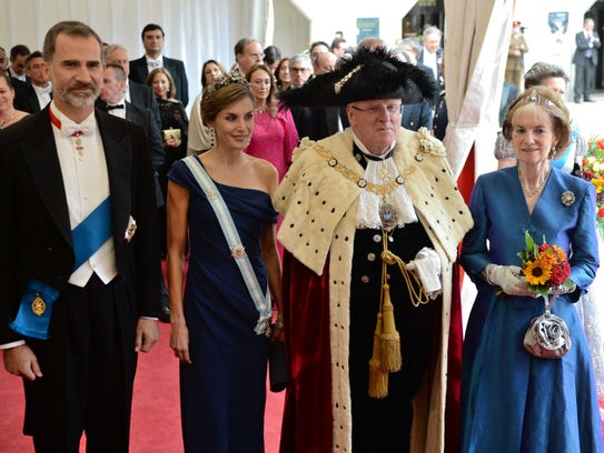Spanish King Felipe VI, Spanish Queen Letizia, Lord