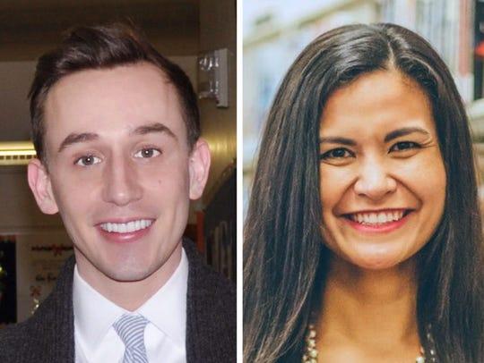 Joey Balistreri (left) and Paula Phillips are seeking
