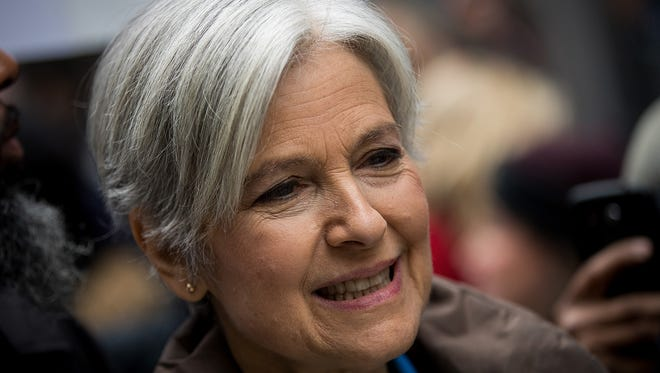 Green Party presidential candidate Jill Stein waits to speak at a news conference on Fifth Avenue across the street from Trump Tower on  Monday, Dec. 5, 2016, in New York City. Stein, who paid more than $970,000 for the recount, is owed a refund from Michigan since the recount was stopped.