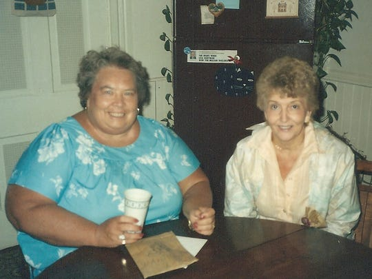 The author's mother, Jane Hartman, left, and Jeannine