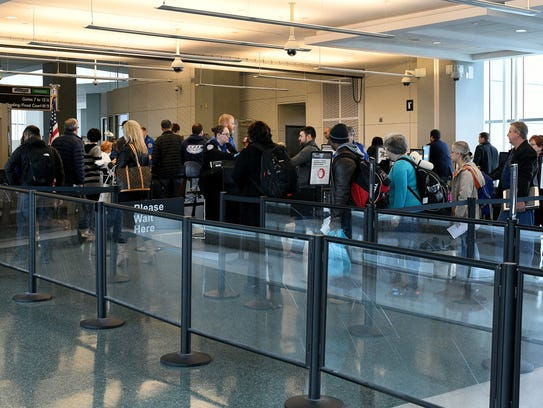 Passengers flying out of McGhee-Tyson Airport as the