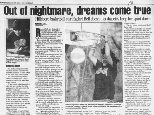 The Tennessean featured Rachel Bell in 1995, when Bell