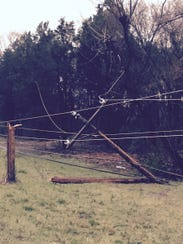 A storm across Middle Tennessee led to downed power