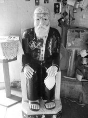 A statue of Don Pedrito at his shrine near Falfurrias.