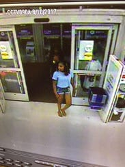 Surveillance photo of suspects wanted by Franklin police.
