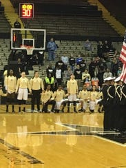 Some Vanderbilt women's basketball players kneel during