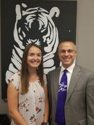 Willard Superintendent Matt Teeter made it a point to meet with every district employee including Chelsea Abrudan.