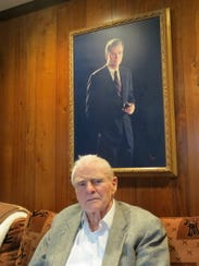Former New Jersey Gov. Brendan Byrne at his then-home