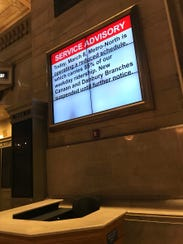 Sign at Grand Central Terminal sums up the Metro-North