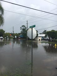 Mapp Road and Sunset Trail in Palm City are flooded
