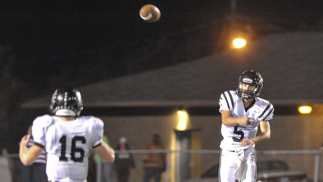 North Buncombe's Chase Parker (5) is the top passer in Buncombe County football.