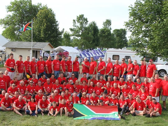 A group of about 100 South Africans made the trip from