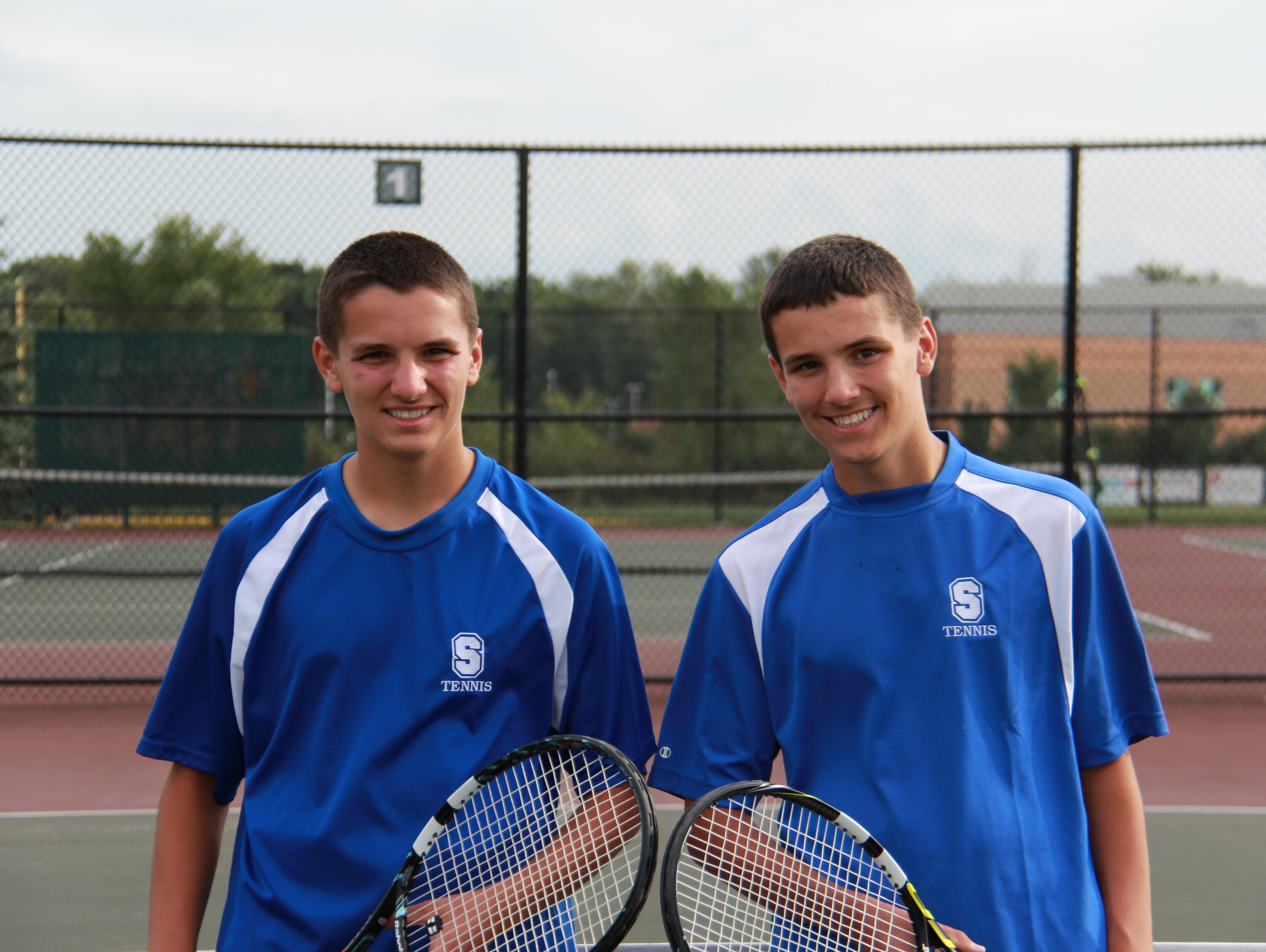 They're not yet as famous as the Bryan brothers, but Salem junior twins Caden (left) and Conor (right) Sweet are making strides.