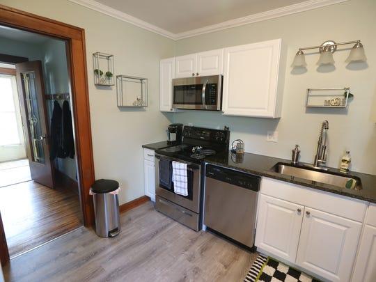 The kitchen in Alanna Barnes and Sean Meritt's new