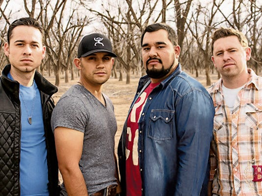 Courtesy Photo   Sam Campos, Frank Gomez, Chris Nuñez and Jonathan Maynes are Border Avenue, the popular Las Cruces country-rock band scheduled to play in concert Friday, May 29, at the Deming High School Memoriao Stadium.