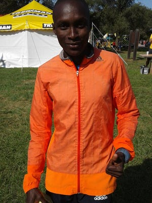 Sammy Rotich at Park to Park in Waterloo on Sunday.