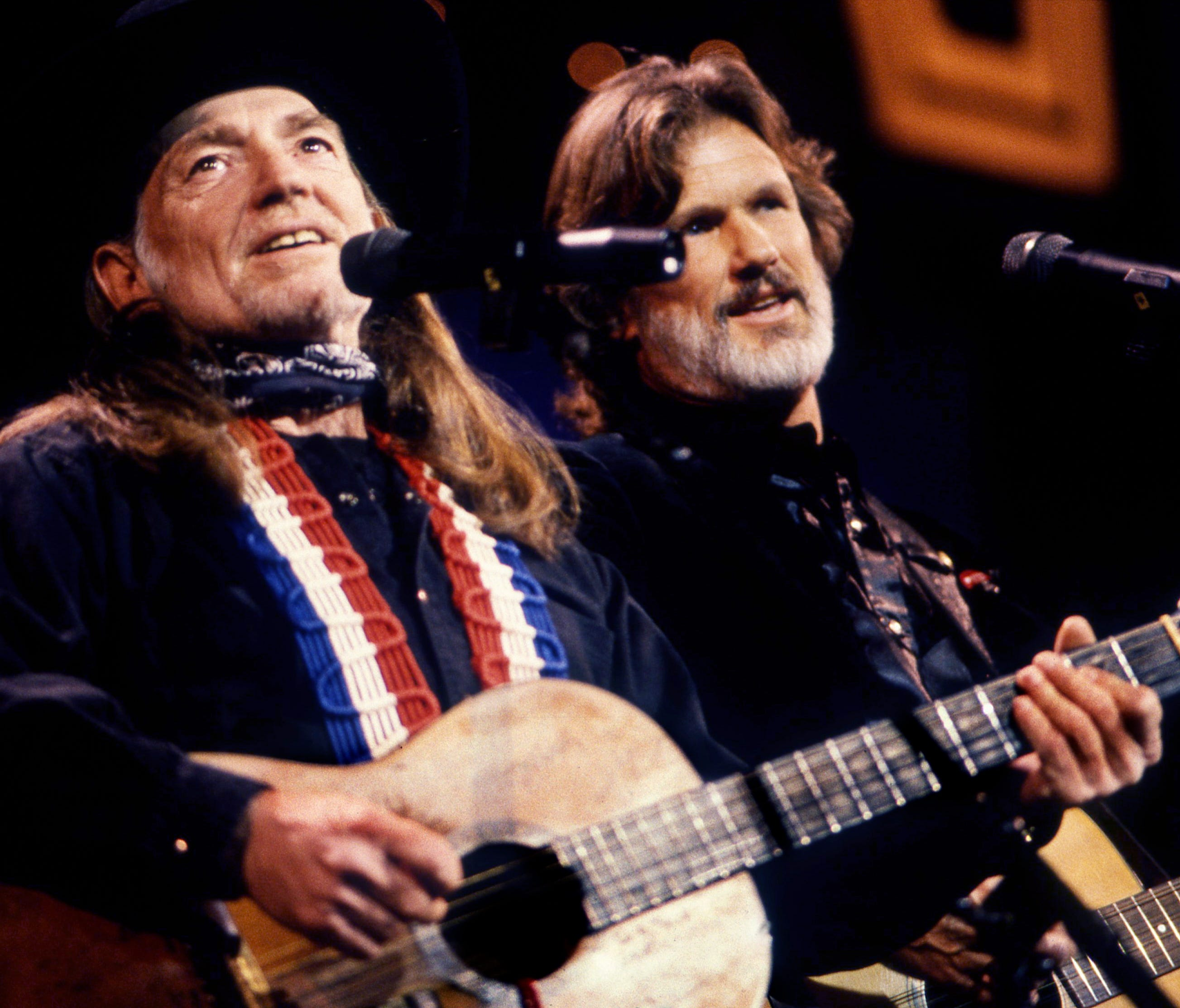 Willie Nelson, left, and Kris Kristofferson are performing