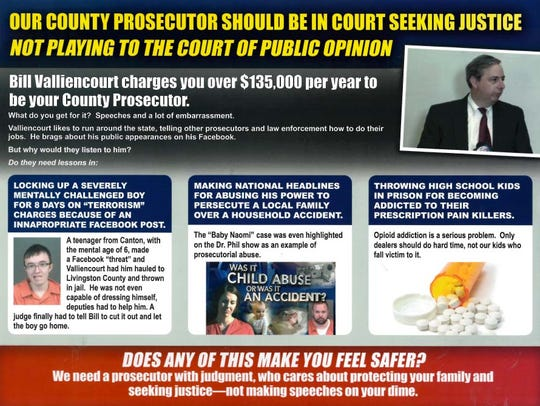 The flyer criminal defense attorney Carolyn Henry mailed