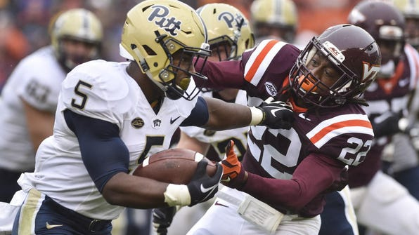 At Pittsburgh last season, Chris James rushed 56 times for 253 yards (4.5 avg.) but slipped to No. 3 on the depth chart.